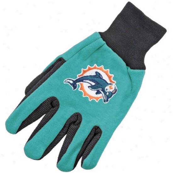 Miami Dolphims Two-tone Utility Gloves