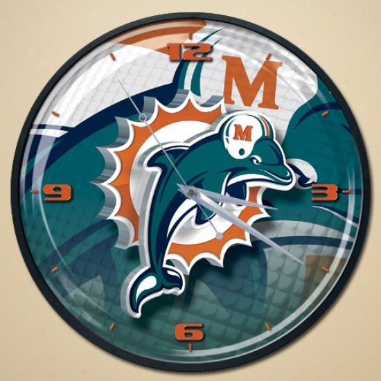 Miami Dolphins Wall Clock