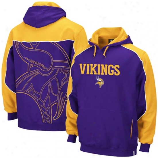 Minnesota Viking Fleece : Reebok Minnesota Viking Purple-gold Arena Pullover Fleece