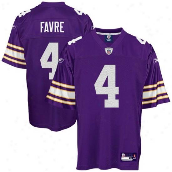 Minnesota Viking Jersey : Reebok Nfl Equipment Minnesota Viking #4 Brett Favre Purple Alternate Relica Football Jersey
