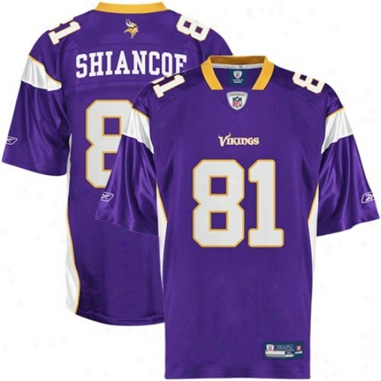 Minnesota Viking Jerseys : Reebok Nfl Equipment Minnesota Viking #81 Visanthe Shiancoe Purple Replica Football Jerseys