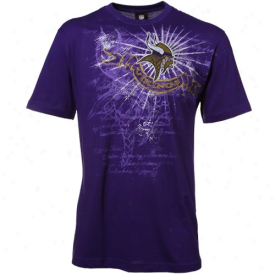 Minnesota Viking Shirt : Minnesota Viking Purple Team Shine Shirt