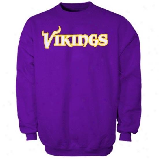 Minnesotaa Viking Sweatshirts : Minnesota Viking Purple Classic Crew Iii Swetashirts