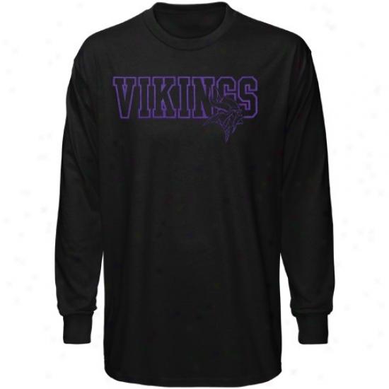 Minnsota Viking Tshirt : Reebok Minnesota Viking Mourning Fashion A ~ time Sleeve Tshirt
