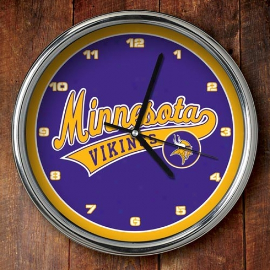 Minnesota Vikings 12'' Chrome Clock