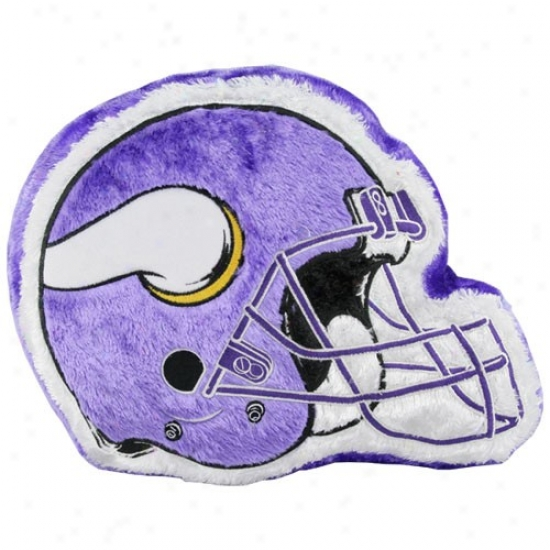 Minnesota Vikings 14'' Team Helmet Plush Pillow