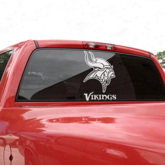 Minnesota Vikings 18'' X 18'' White Logo Deca
