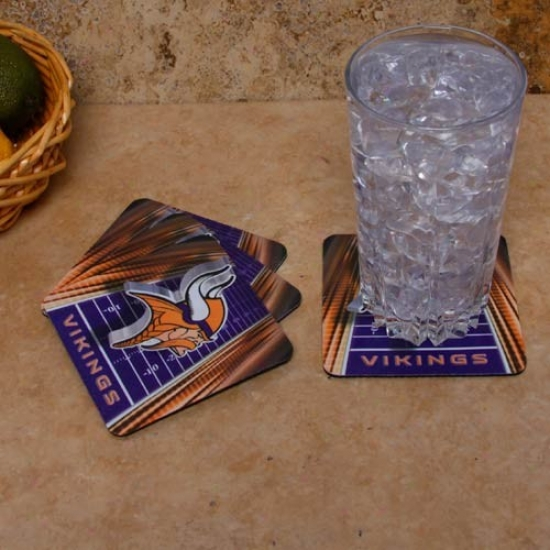 Minnesota Vikings 4-pack Sublimated Loto Neoprene Coaster Set