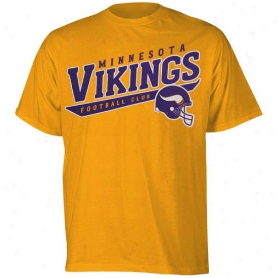 Minnesota Vikings Attire: Reebok Minnesota Vikkings Gold The Call Is Tails T-shirt