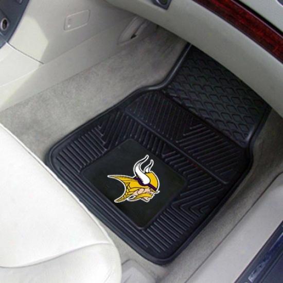 Minnesota Vikings Black 2-piece Vknyl Car Mat Set
