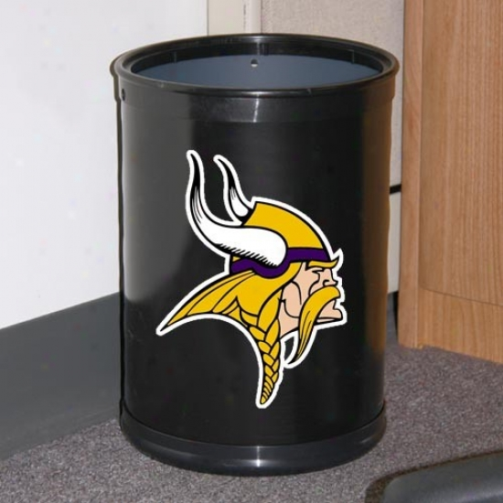 Minnesota Vikings Black Team Wastebasket