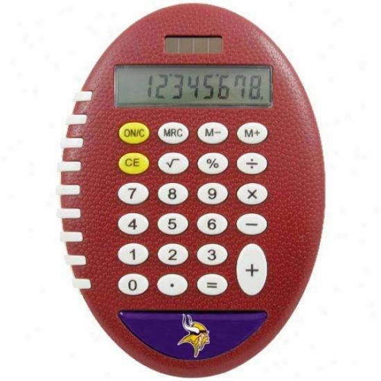 Minnesota Vikings Brown Football Pro-grip Caoculator