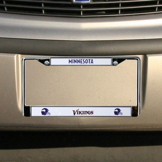 Minnesota Vikings Chrome License Plate Construct