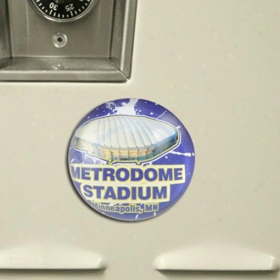 Minnesota Vikings Domed Crystal Stadium Magnet