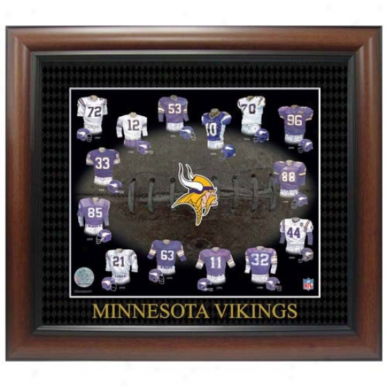 Minnesota Vikings Evolution Of The Team Uniform Framed Picture