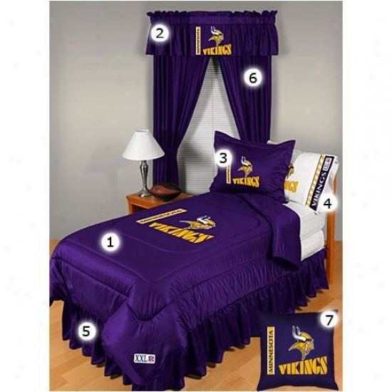 Minnesota Vikings Full Size Locker Apartment Bedroom Set