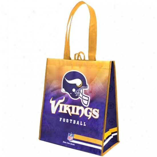 Minnesota Vikings Gold-purple Fade Reusable Tote Bag