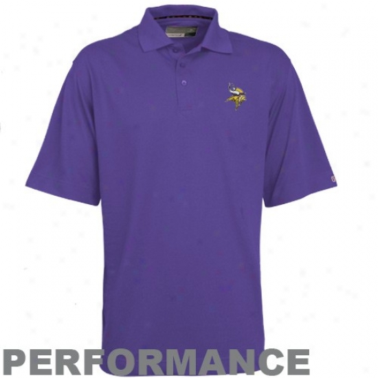 Minnesota Vikings Golf Shirt : Cutter & Buck Minnesota Vikings Purple hCampions Deytec Performance Golf Shirt