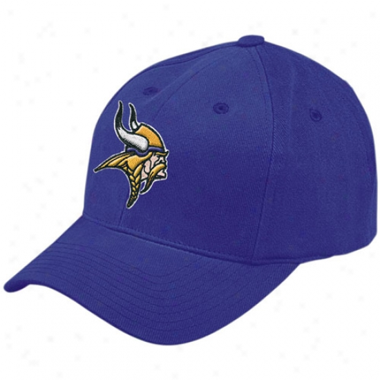 Minnesota Vikings Cardinal's office : Reebok Minnesota Vikings Purple Basic Logo Brushed Cotton Hat