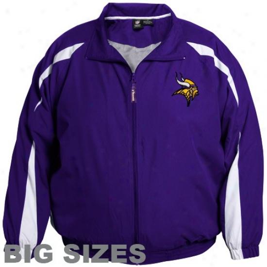 Minnesota Vikings Jacket : Minnesota Vikings Purple Microfiber Big Sizes Jacket