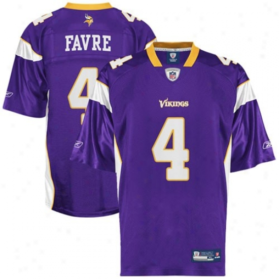 Minnesota Vikings Jersey : Reebok Nfl Equipment Minnesota Vikings #4 Brett Favre Youth Purple Replica Football Jersey
