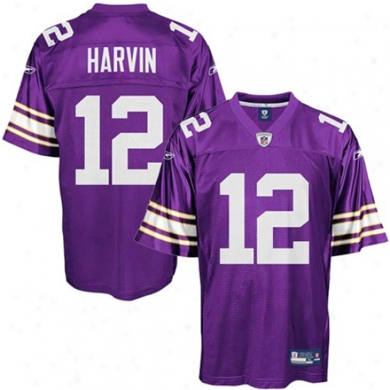 Minnesota Vikings Jersey : Reebok Percy Harvin Minnesota Vikings Alternate Replica Jersey - Purple