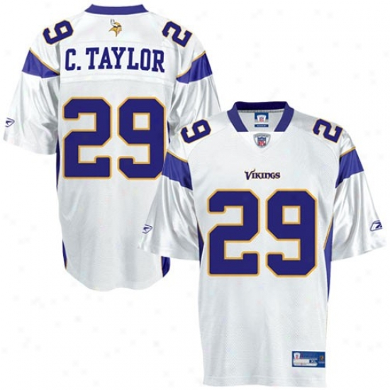 Minnesota Vikings Jerseys : Reebok Nfl Equipment Minnesota Vikings #29 Chester Taylor White Replica Football Jerseys