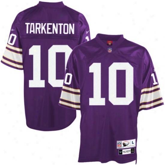 Minnesita Vikings Jerseys : Reebok Nfl Equipment Minnesota Vikings #10 Fran Tarkenton Purple Premier Tackle Twill Retiref Jerseys