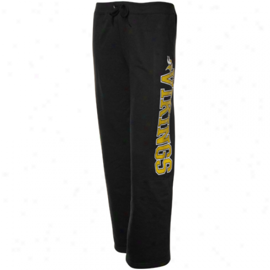 Minnesota Vikings Laduws Black Lateral Spirit Lounge Pants