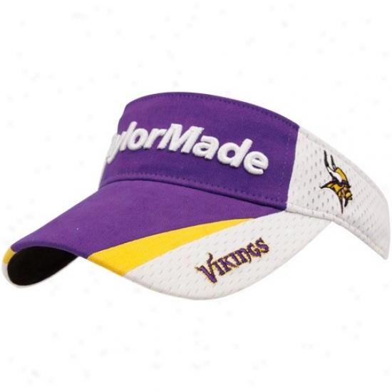 Minnesota Vikings Merchandise: Taylormade Minnesota Vikings Purple-white 2010 Adjustable Visor
