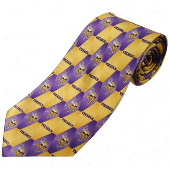 Minnesota Vikings Pattern 1 Silk Tie
