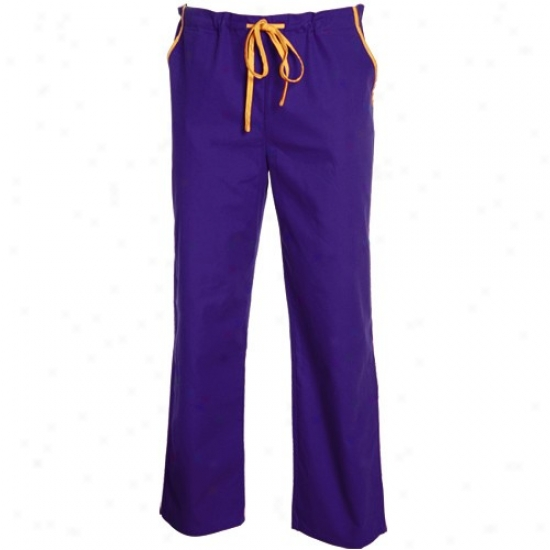 Minnesota Vikings Purlpe Basic Unisex Solid Scrub Pants
