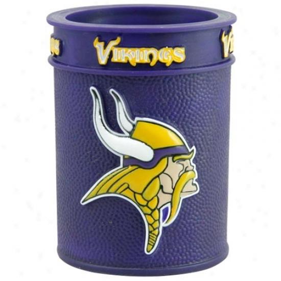 Minnesota Vikings Purple Plastic Can Coolie