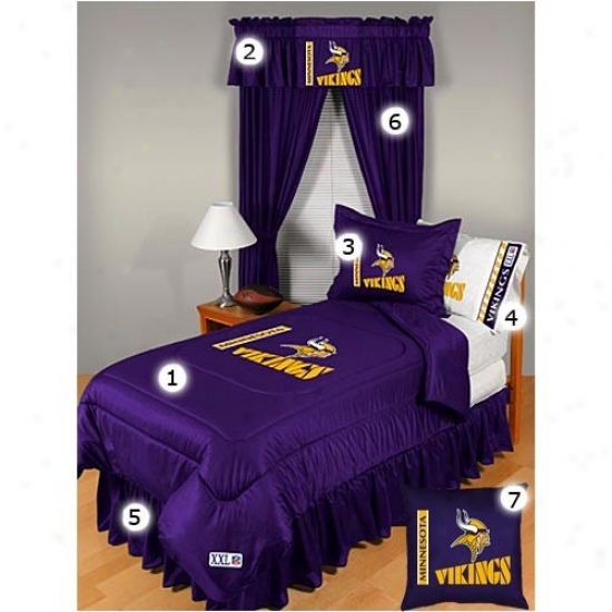 Minnesota Vikings Queen Size Locker Room Bedroom Set
