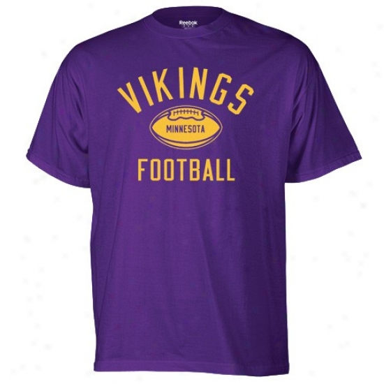 Minnesota Vikings Shirt : Reebok Minnesota Vikings Purple Work Out Shirt