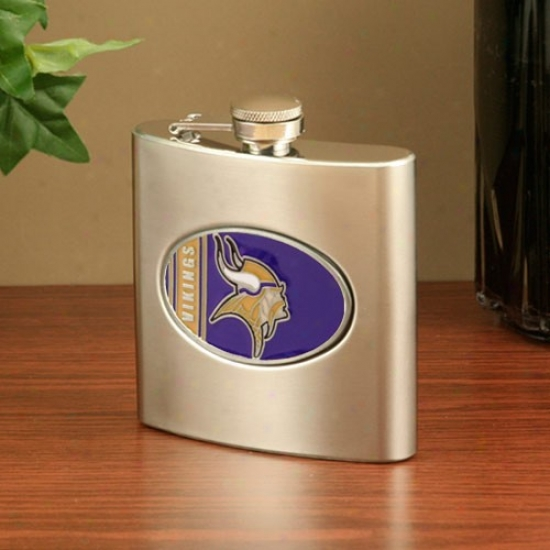Minnesota Vikings Stainless Steel Flask