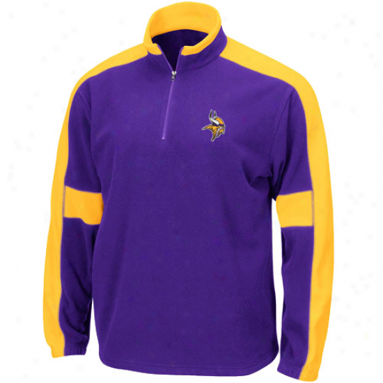 Minnesota Vikings Sweat Shirt : Minnesota Vikings Purple Game Stopper 1/4 Zip Sweat Shirt