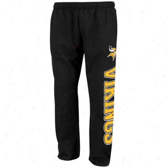 Minnesota Vikings Sweatshirt : Reebok Minnesota Vikings Black Speed Game Sweatshirt Sweatpants