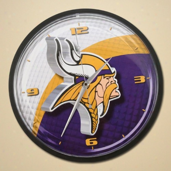 Minnesota Vikihgs Wall Clock