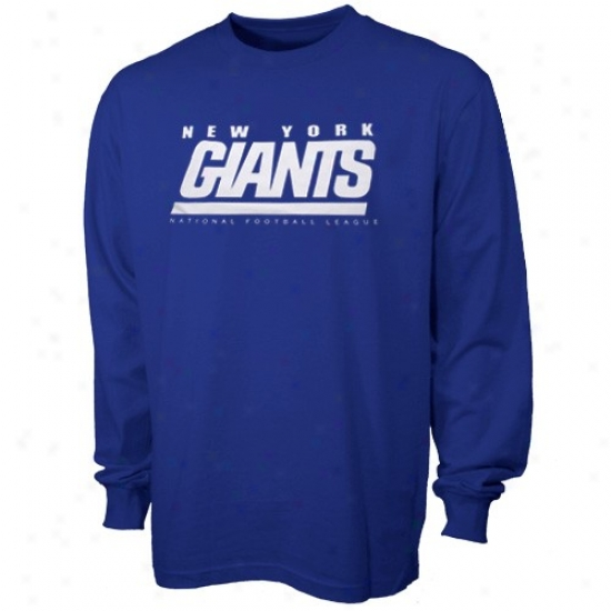 N Y Giant Attire: N Y Giant Royal Blue Critical Victory Long Sleeve T-shirt