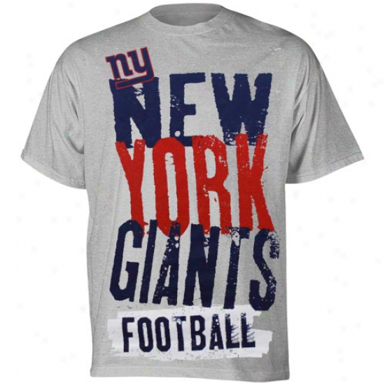 N Y Giant Attire: Reebok N Y Giant Young men Ash Team Pride T-shirt