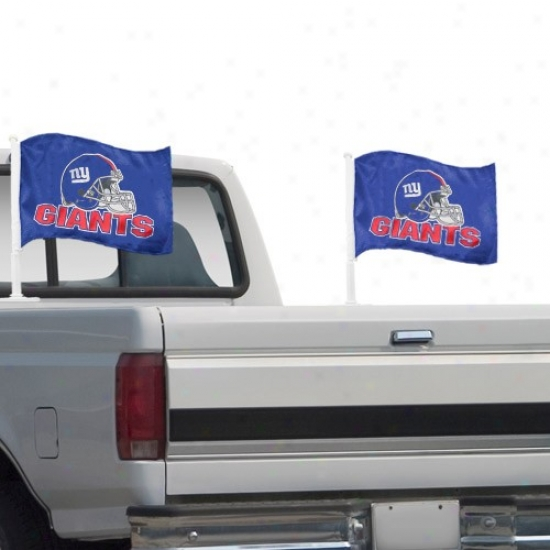 N Y Giant Languish : N Y Giant Royal Blue 2-pack Team Logo Truck Flag