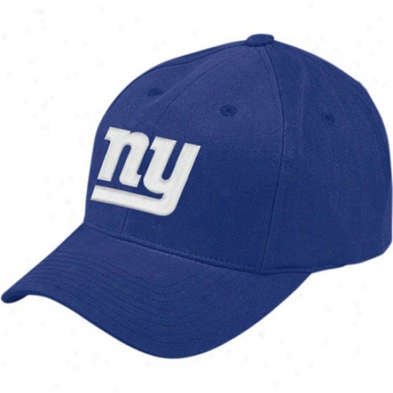 N Y Giant Hats : Reebok N Y Giant Royal Blue Young men Basic Logo Hats