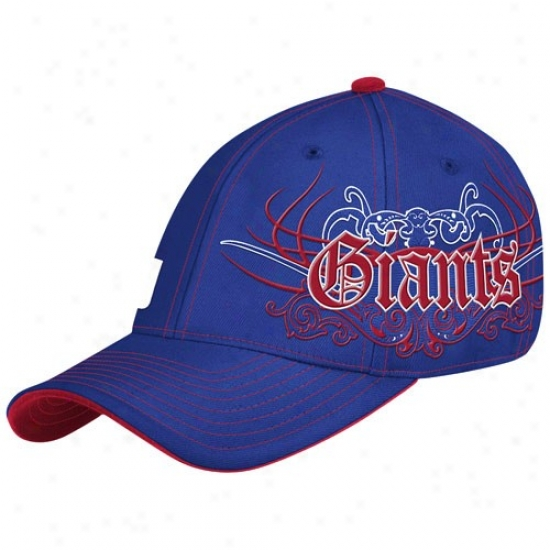 N Y Giants Caps : Reebok N Y Giants Royal Blue Rebel Flex Fit Caps