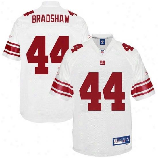 N Y Giants Jersey : Reebok Ahmad Bradshaw N Y Gjants Premiere Tackle Twill Jersey - White