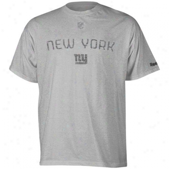 N Y Giants Shirt : Reebok N Y Giants Ash Sideline Basic Training Shirt
