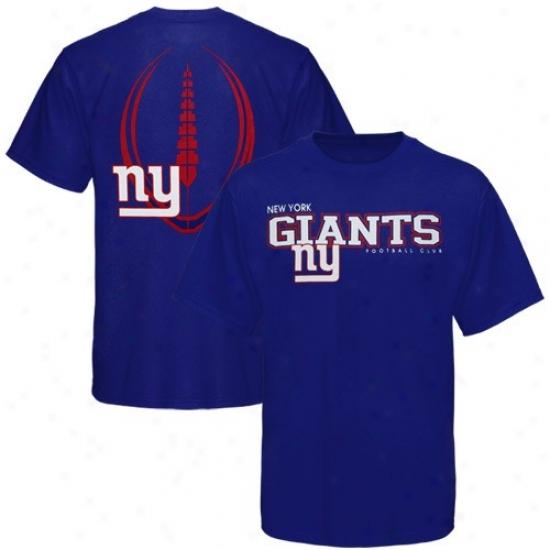 N Y Giants T-shirt : Reebok N Y Giants Royal Blue Ballistic T-shirt