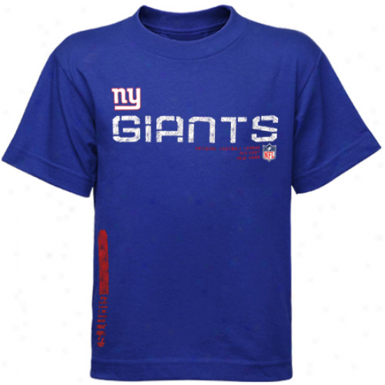 N Y Giants Tshirt : Reebok N Y Giants Preschool Royal Blue Sideline Tacon Tshirt
