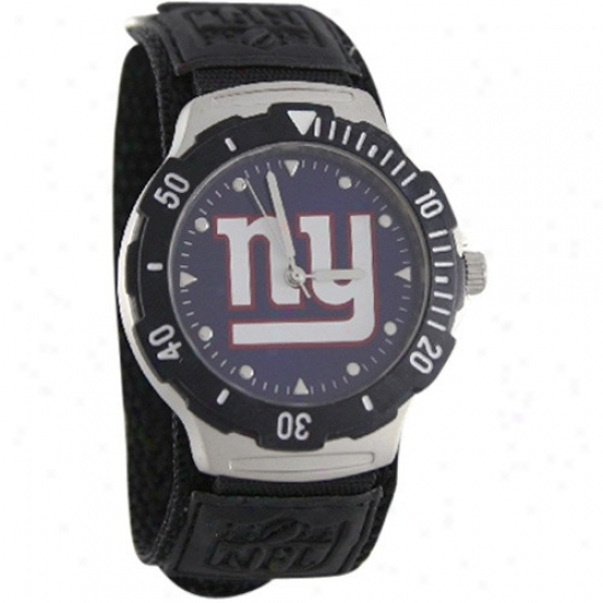 N Y Giants Wrist Watch : N Y Giants Black Agent V Wrist Watch