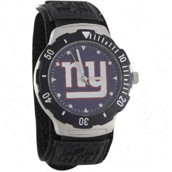 N Y Giants Wrist Watch : N Y Giants Black Agent V Wrist Watch